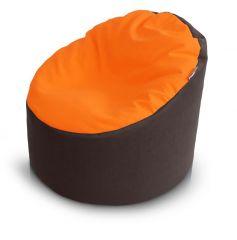 Gyermek babzsákfotel (Narancs-Barna)