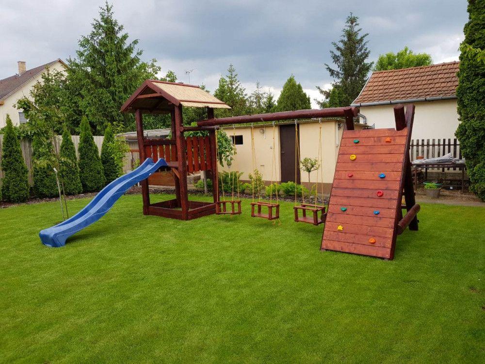 5 m hosszú rönkfa játszótér - INGYEN kiszállítás és telepítés