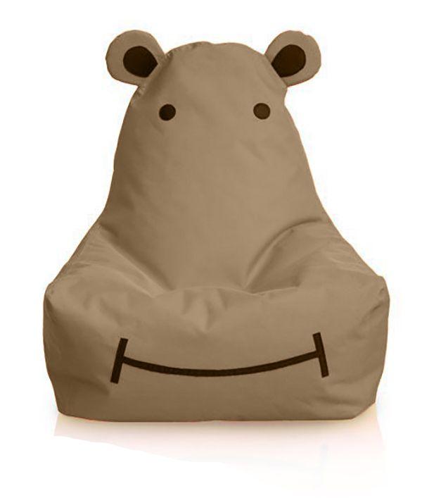 HIPPO a víziló gyermek babzsákfotel (camel)