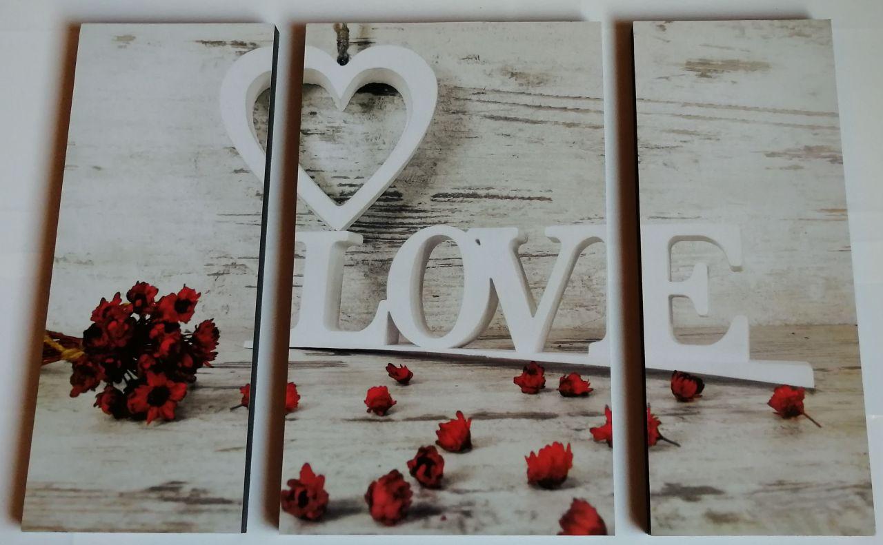 Italia Rose 3 részes fali kép 50x70