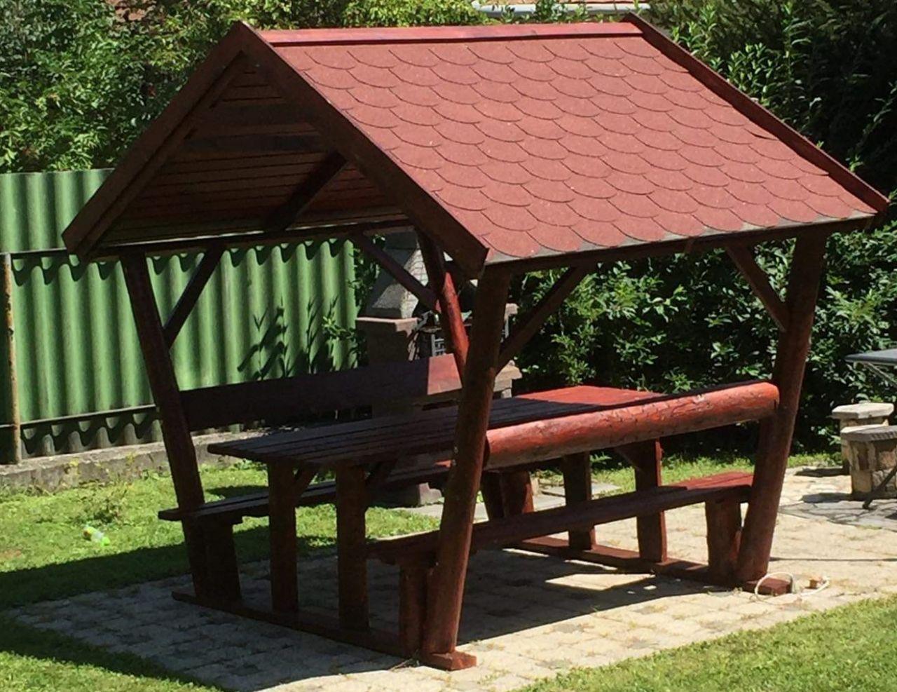 Rönkfa bútor zsindelytetővel INGYEN kiszállítás és összeszerelés
