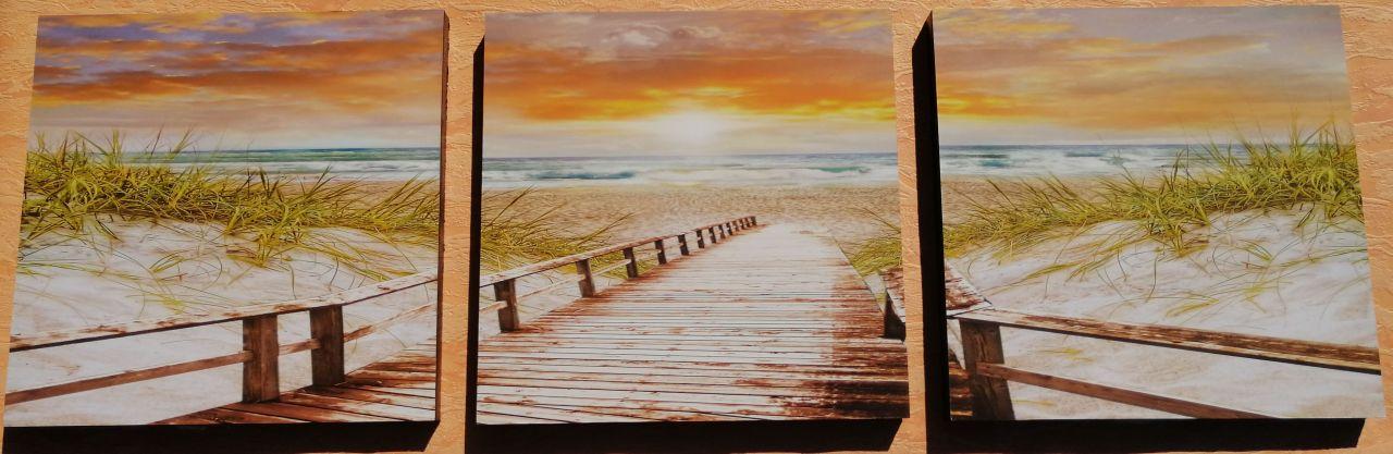 Sunny Beach 3 részes fali kép 90 x 30