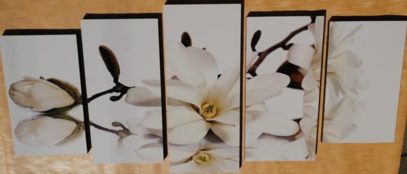 White Flower 5 részes fali kép 150 x 70
