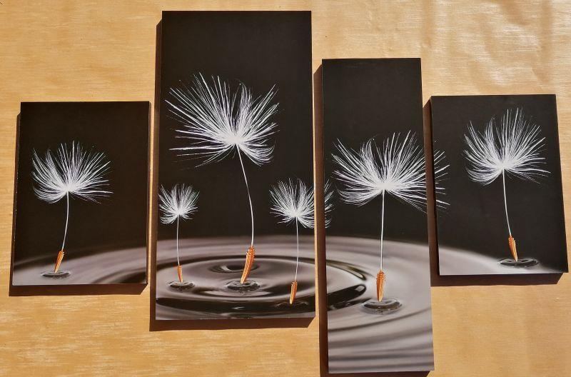 Night Flower 4 részes fali kép 100 x 70