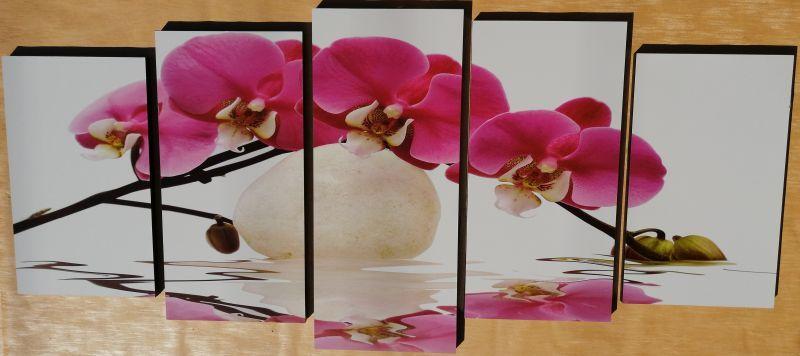 Pink Orchidea 5 részes fali kép 150 x 70