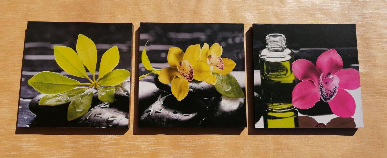 Aroma Therapy 3 részes fali kép 90 x 30
