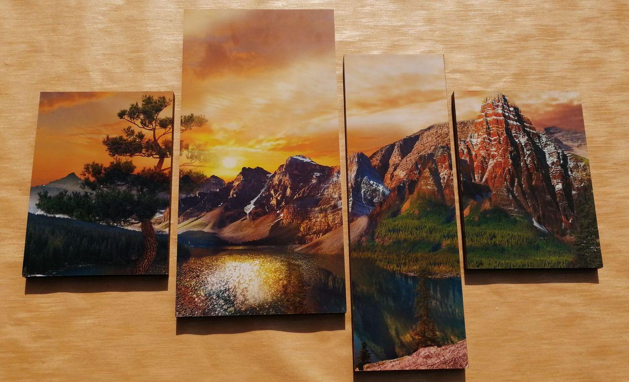 Mountain 4 részes falikép 100 x 70