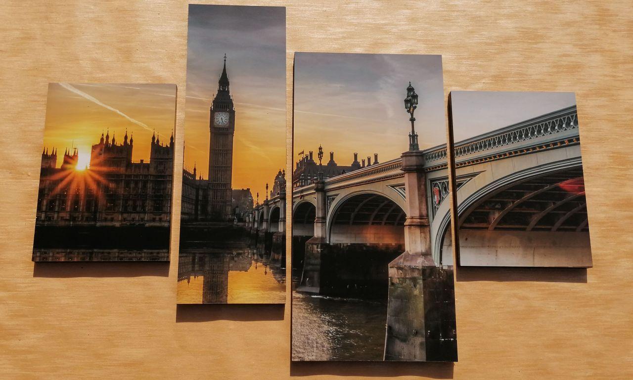 London 4 részes falikép 100 x 70