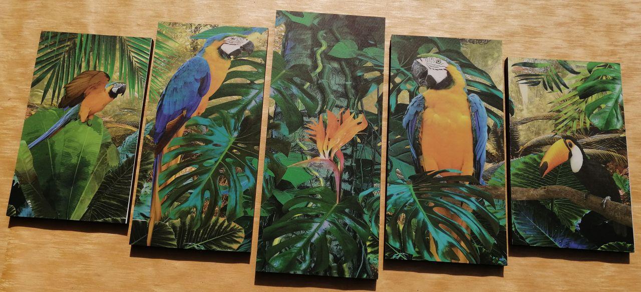 Amazonas 5 részes falikép 150 x 70